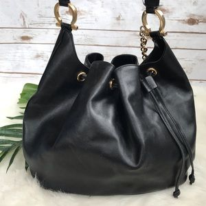 Salvatore Farragamo | Black Leather Bucket Bag